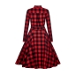 Preview: Mara Checked Shirt Kleid Black/Red