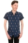 Preview: Run & Fly Mens 50s 60s Indie Preppy Flamingo Kurzarmhemd