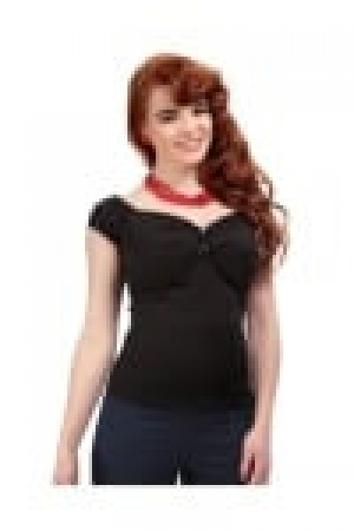 Dolores Top Plain Schwarz