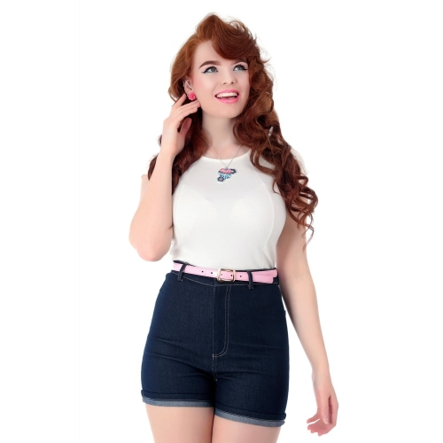 Collectif Mainline Lily Denim Shorts