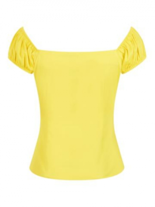 Dolores Top Plain Gelb