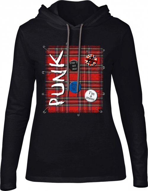 Ladies Hoodie Punk's Not Dead