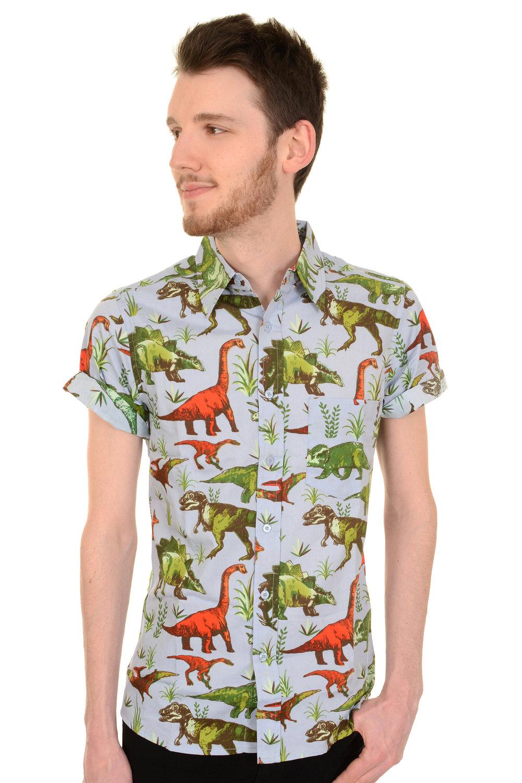 1eb62fd5a645 COS Shop - Dinomite Dinosaurier Kurzarm Hemd aus 100% Baumwolle mit ...