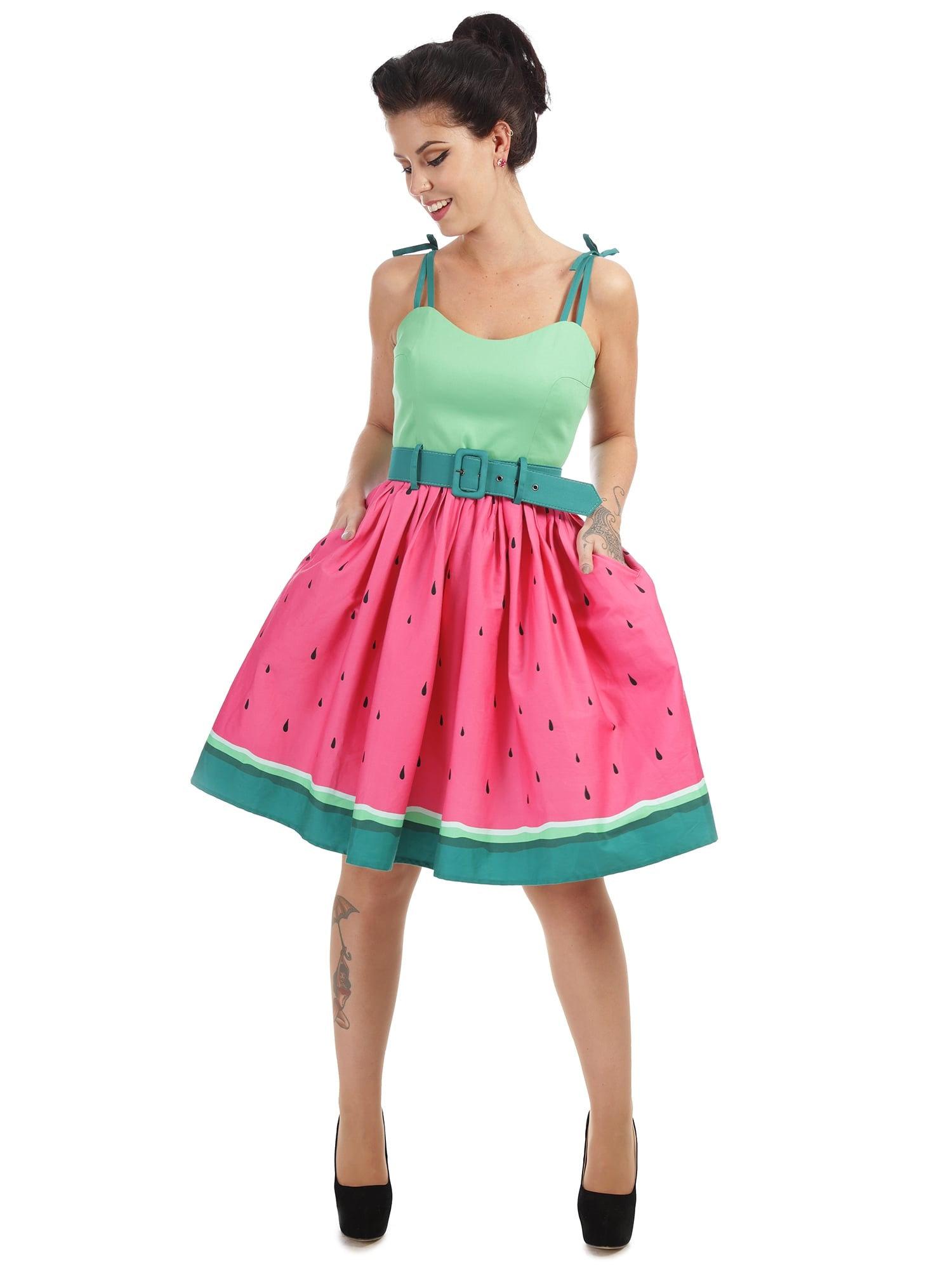 COS Shop - Jade Watermelon Swing Dress, Kleid Collectif, 18er, 18