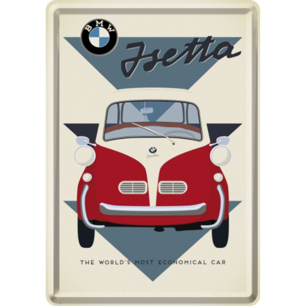 Blechpostkarte BMW - Isetta Economical Car