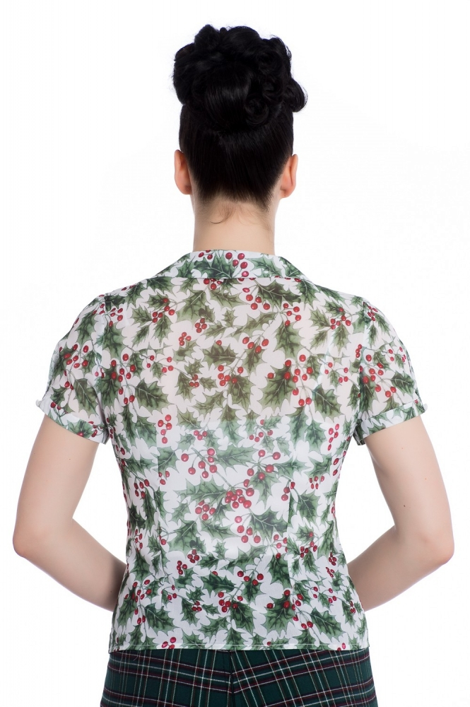Holly Berry Bluse