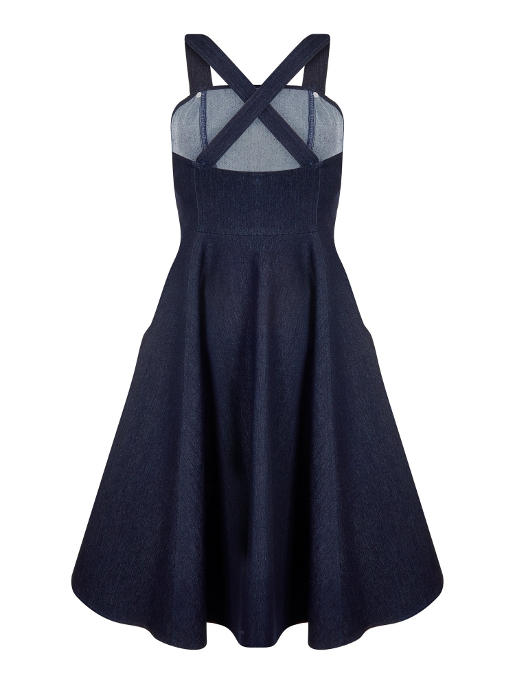COS Shop - Odette Denim Dress, Kleid Collectif, 70er, 97% Cotton 3 ...