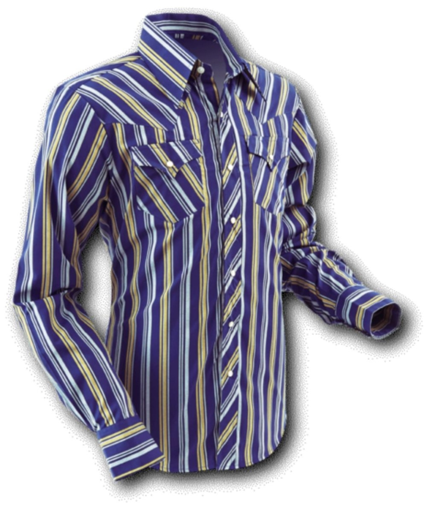 Chenaski Cowboyhemd Blue Stripes