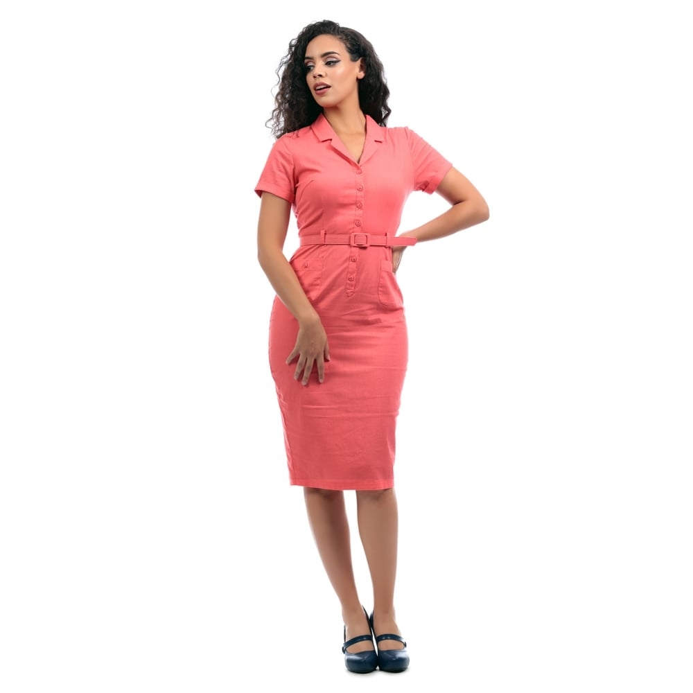 Caterina Plain Pencil Dress
