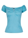 Dolores Top Plain Blau
