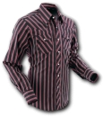 Chenaski Cowboyhemd Black Stripes